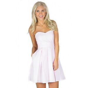 NWT Pink Seersucker Lauren James Dress